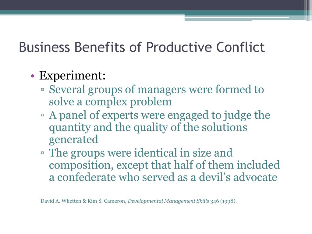 Business Benefits of Productive Conflict