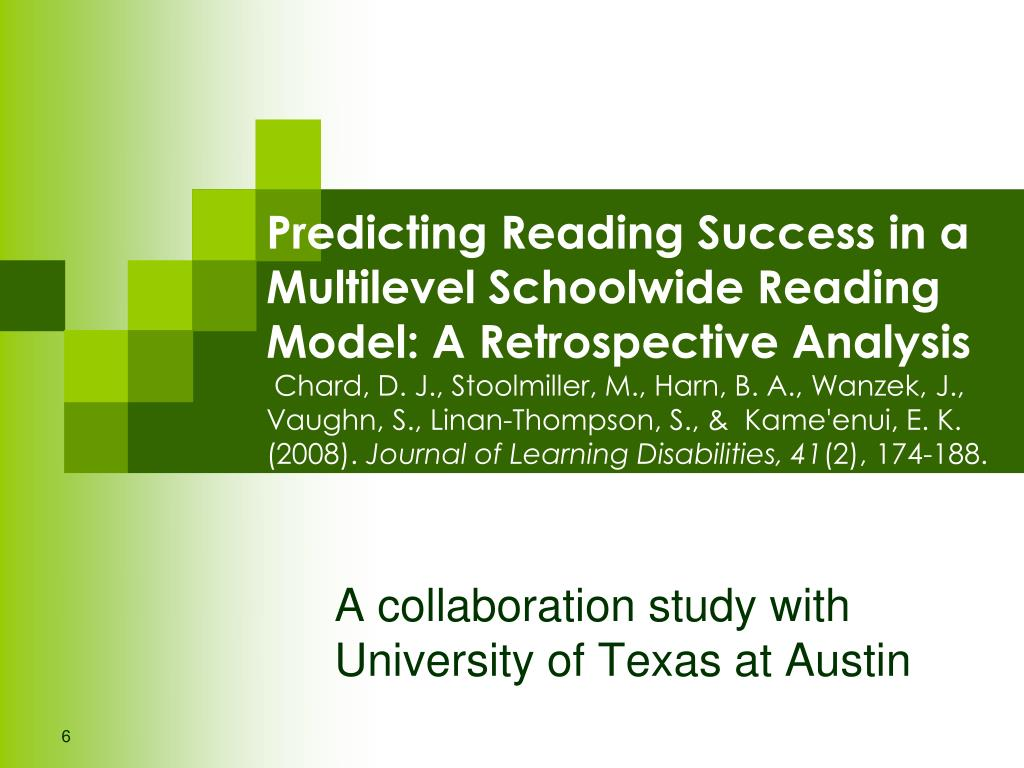 Predicting Reading Success in a Multilevel Schoolwide Reading Model: A Retrospective Analysis