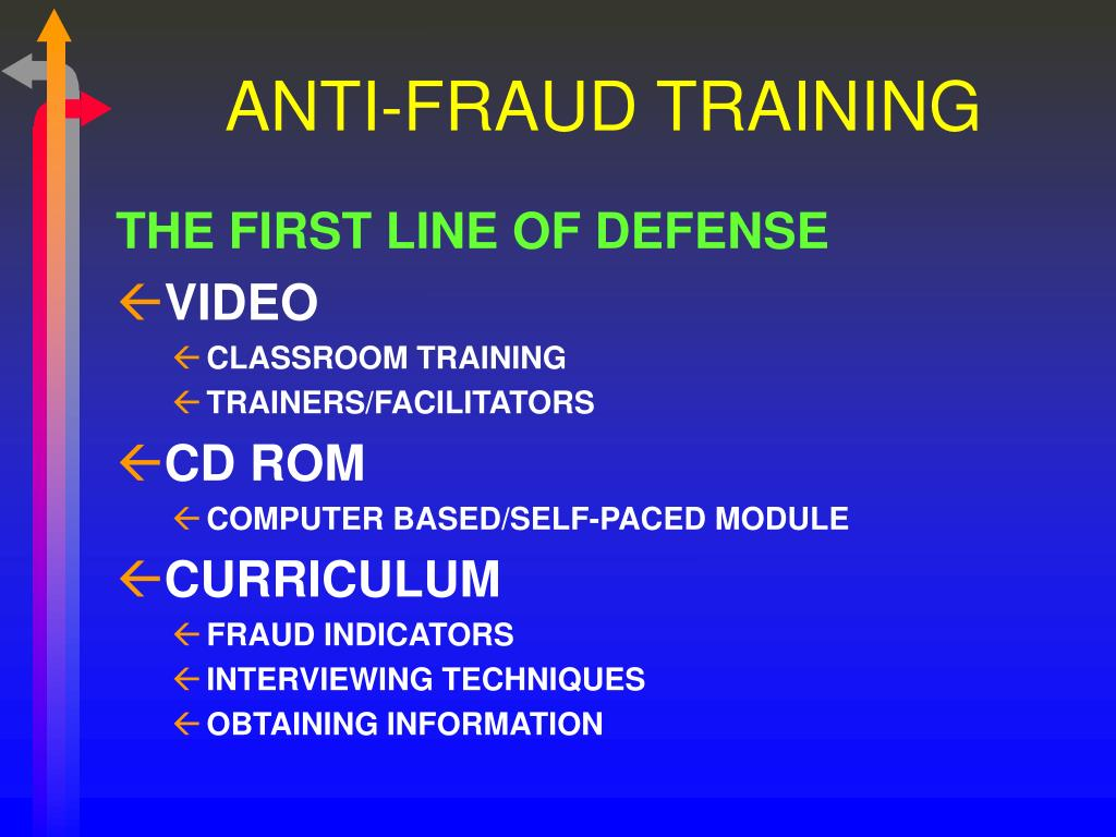 ANTI-FRAUD TRAINING