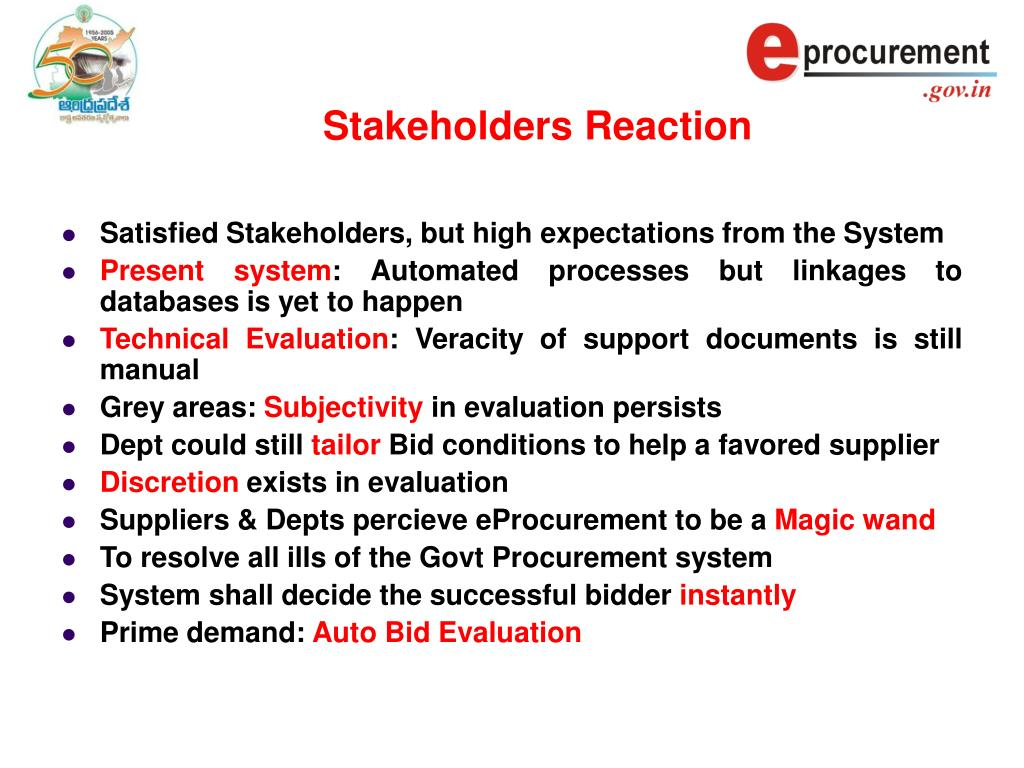 Stakeholders Reaction