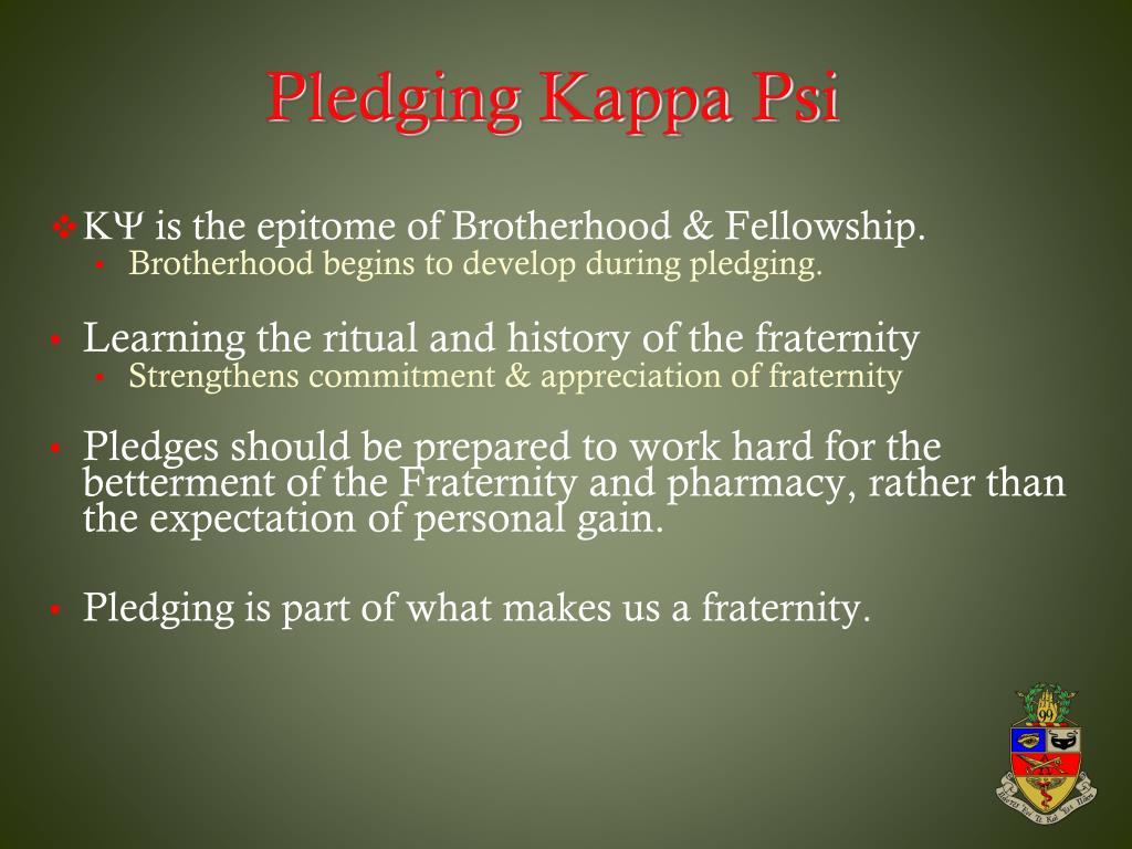 Pledging Kappa Psi