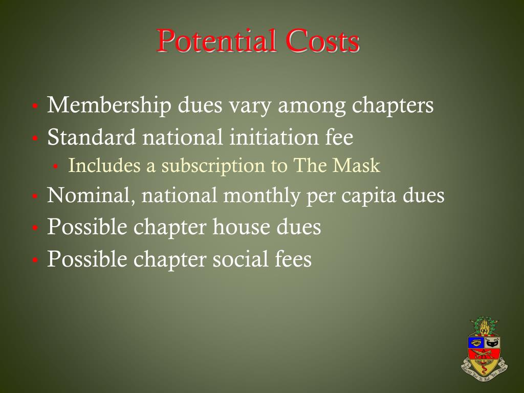 Potential Costs