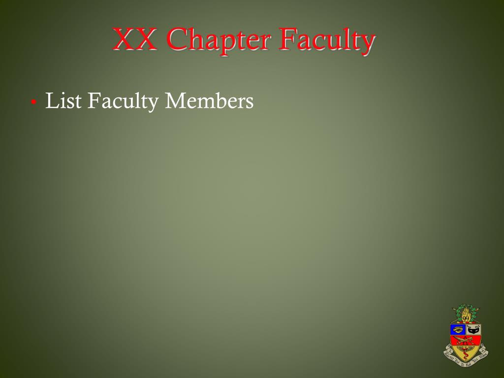 XX Chapter Faculty
