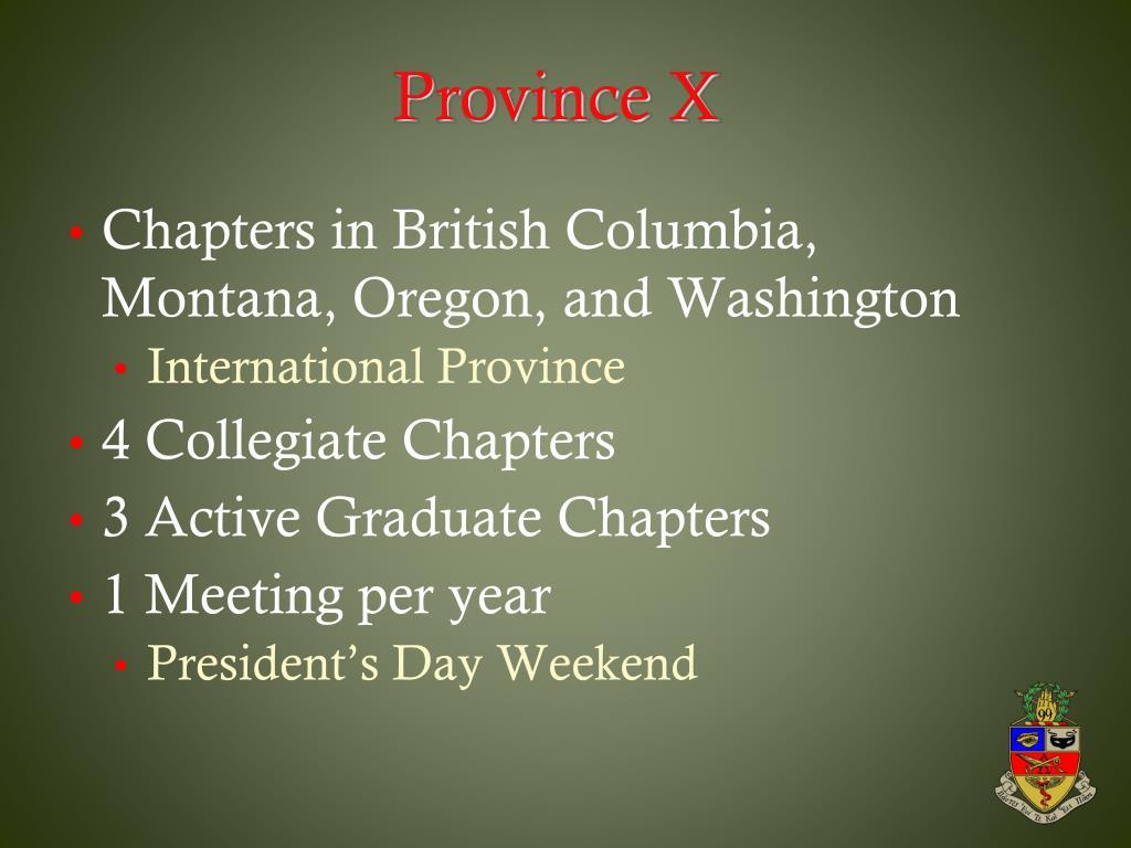 Province X