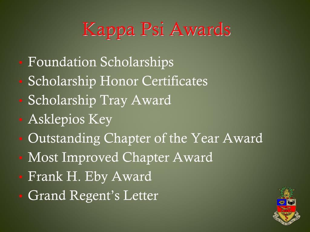 Kappa Psi Awards