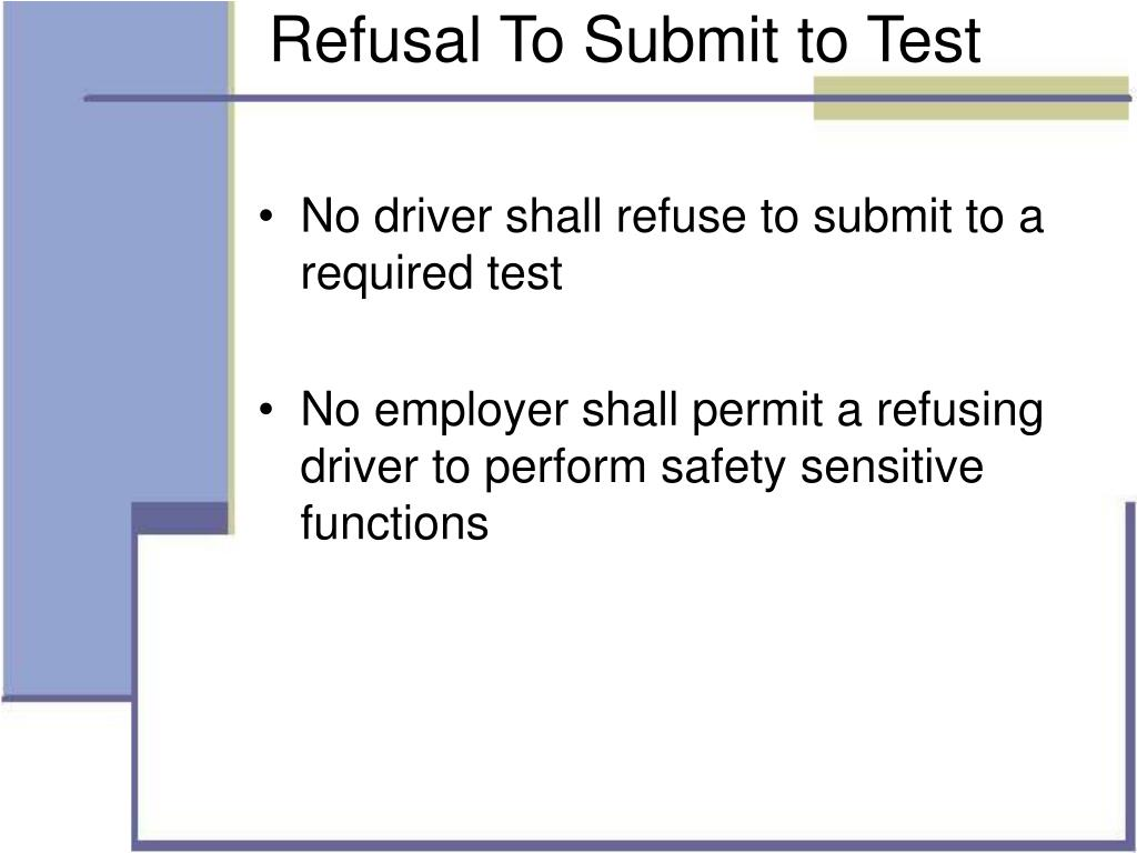 Refusal To Submit to Test