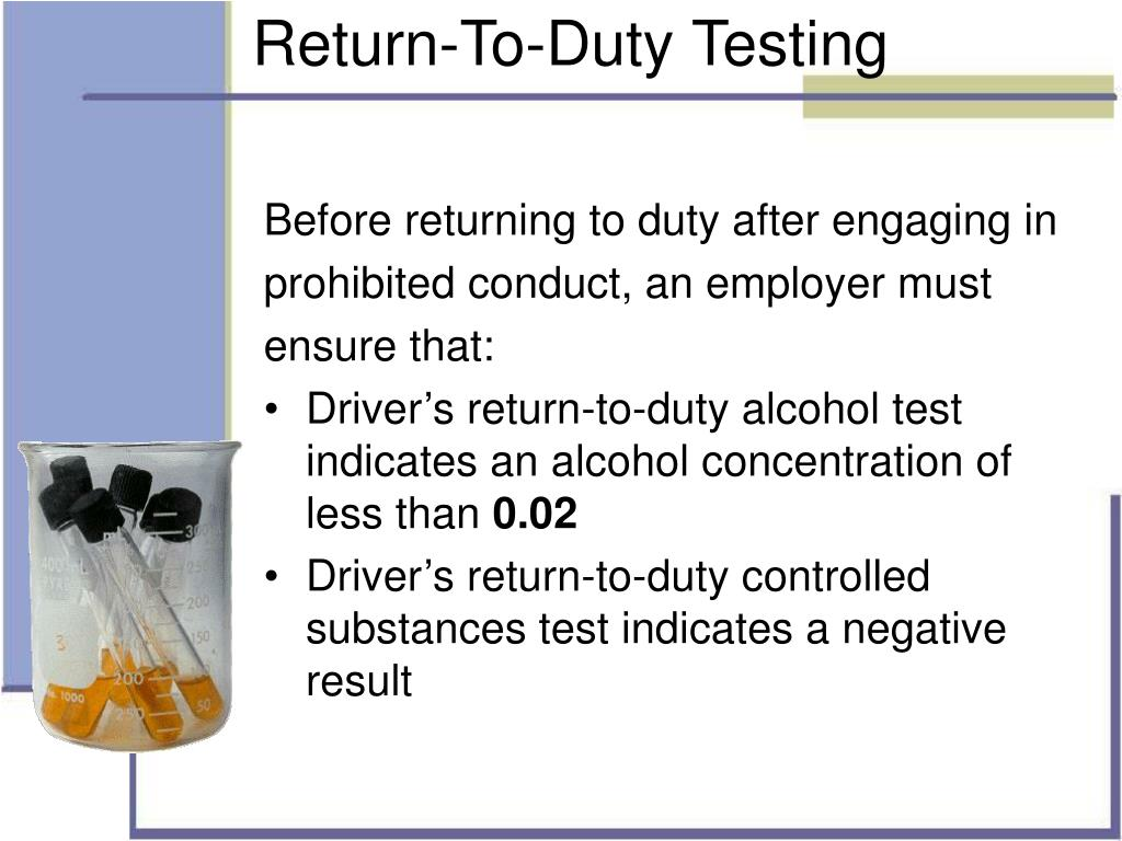 Return-To-Duty Testing