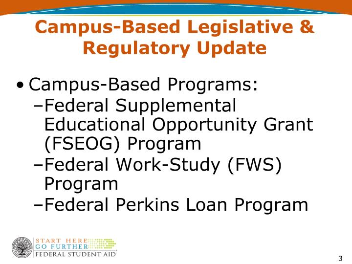 Campus based legislative regulatory update