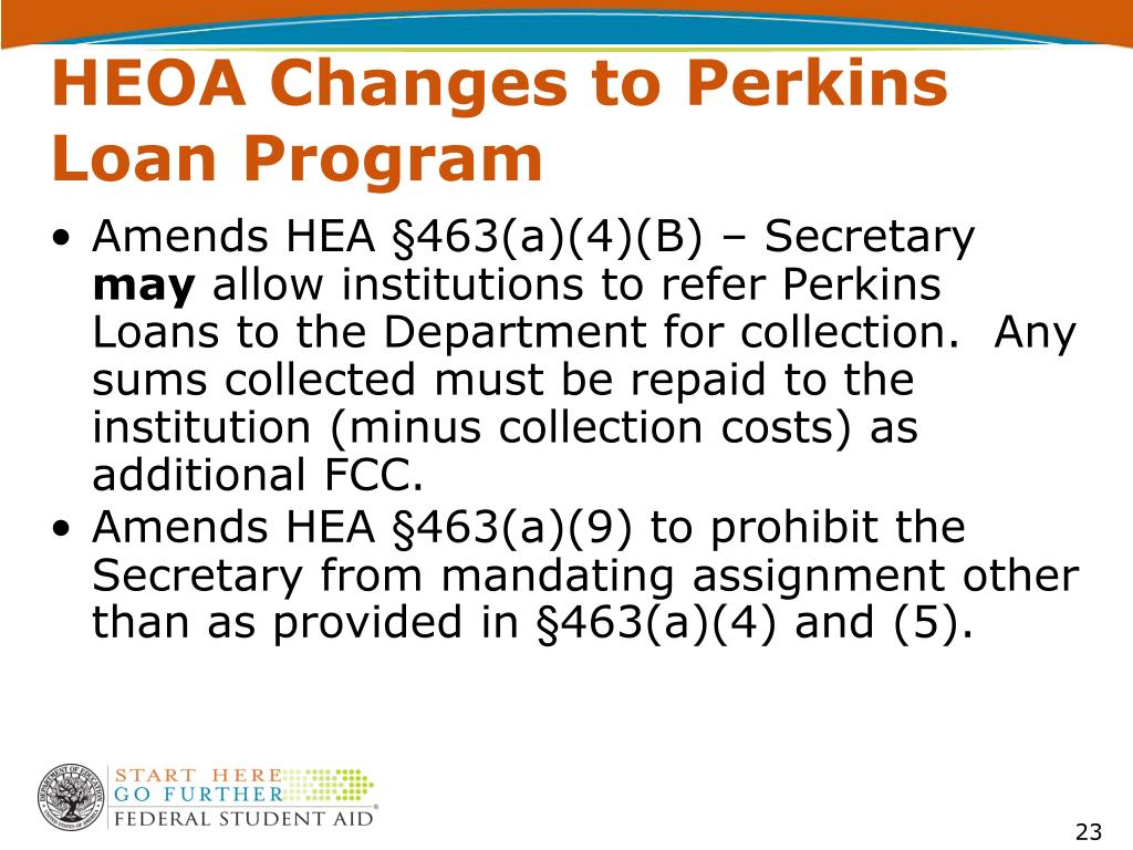HEOA Changes to Perkins