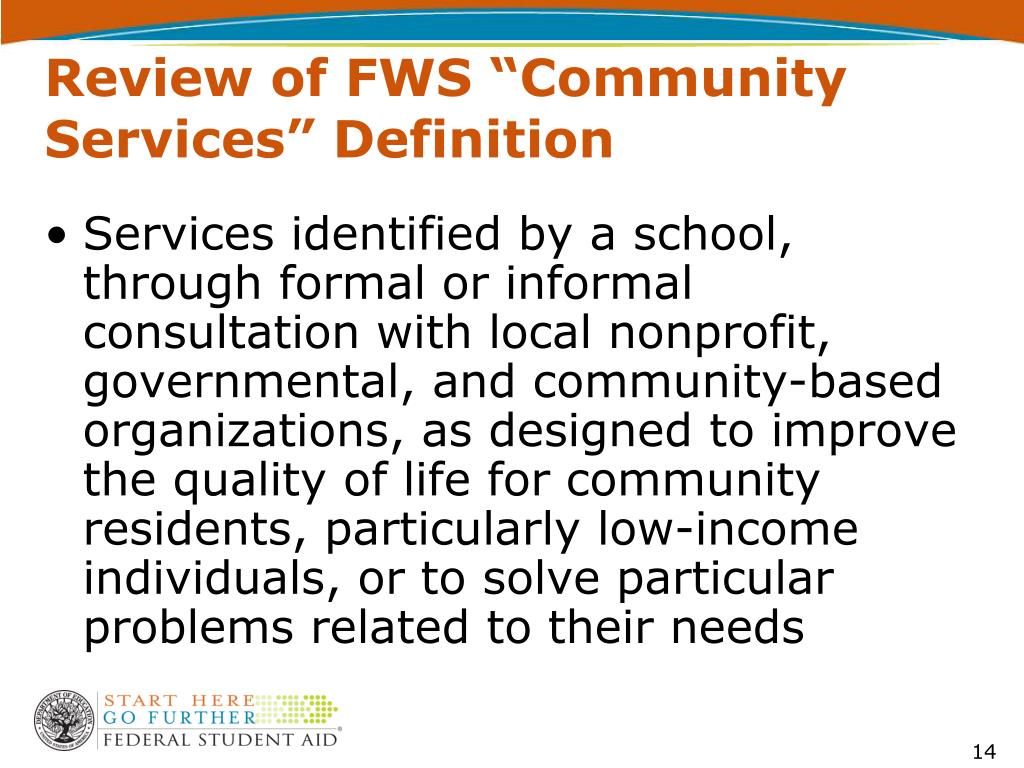 "Review of FWS ""Community Services"" Definition"