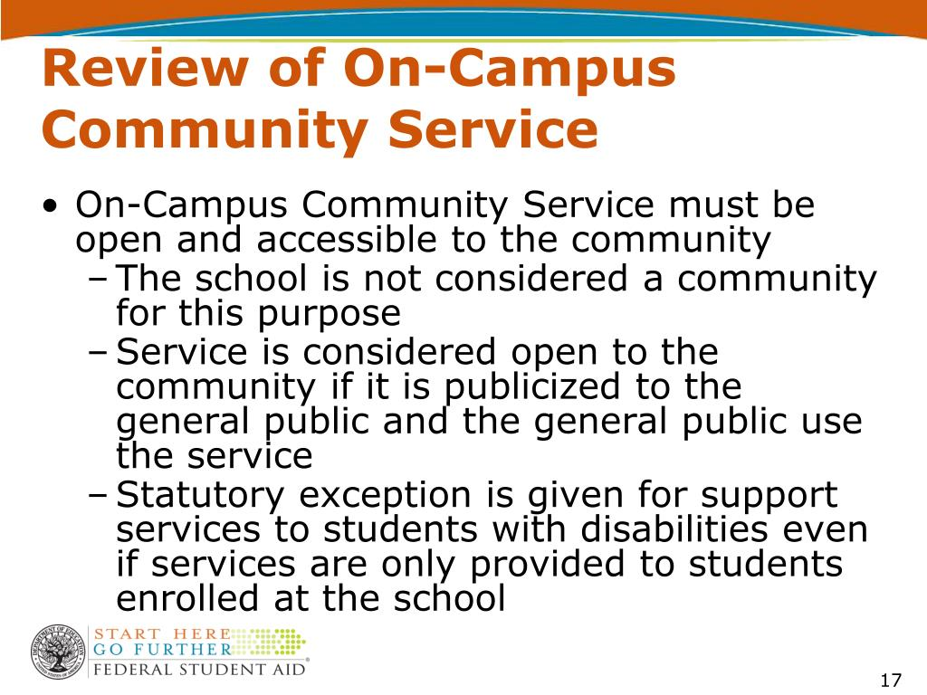 Review of On-Campus Community Service