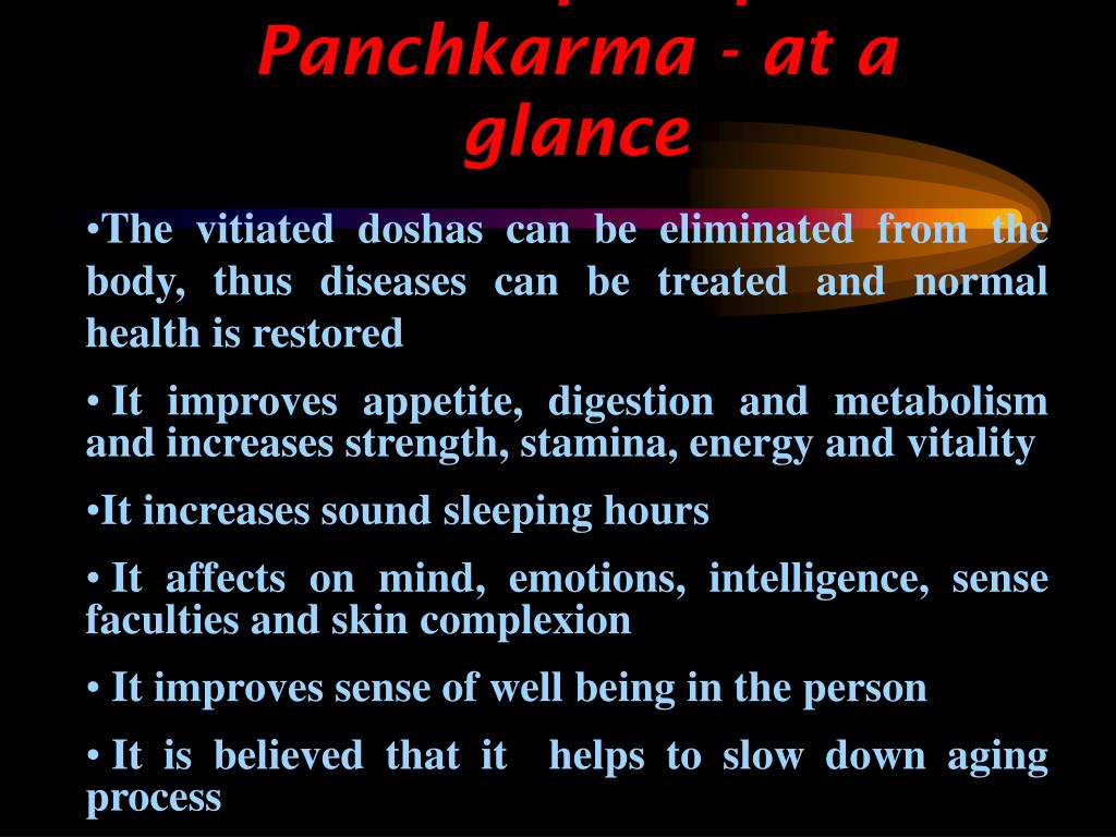 Benefits of Panchkarma - at a glance