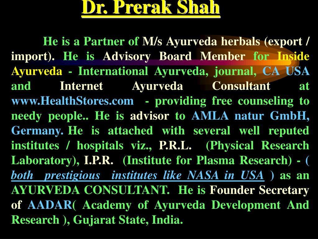 Dr. Prerak Shah