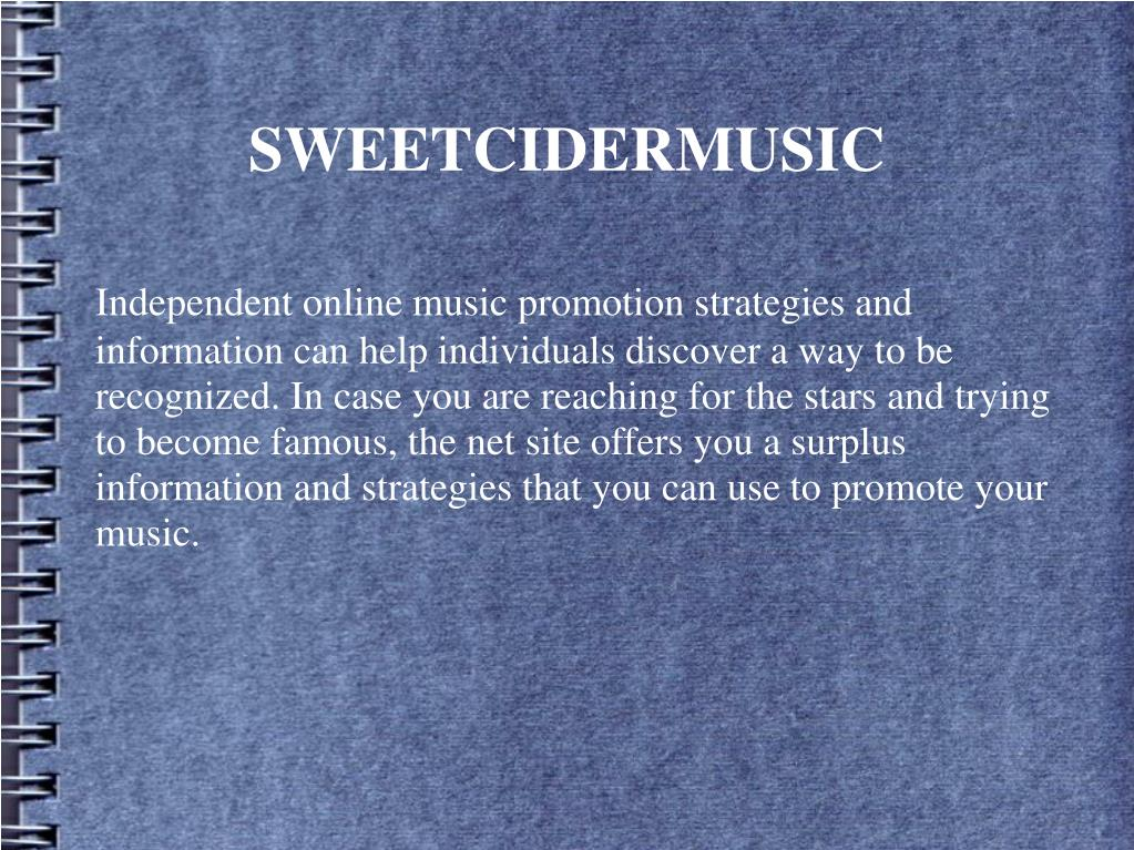 Independent online music promotion strategies and information can help individuals discover a way to be recognized. In case you are reaching for the stars and trying to become famous, the net site offers you a surplus information and strategies that you can use to promote your music.