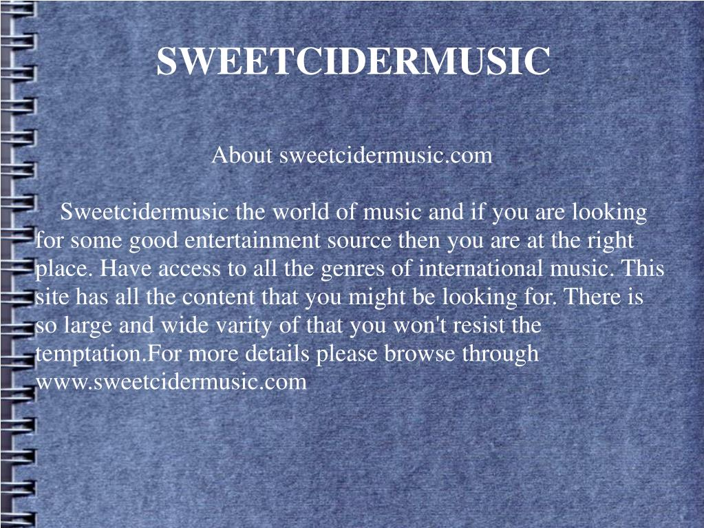 About sweetcidermusic.com