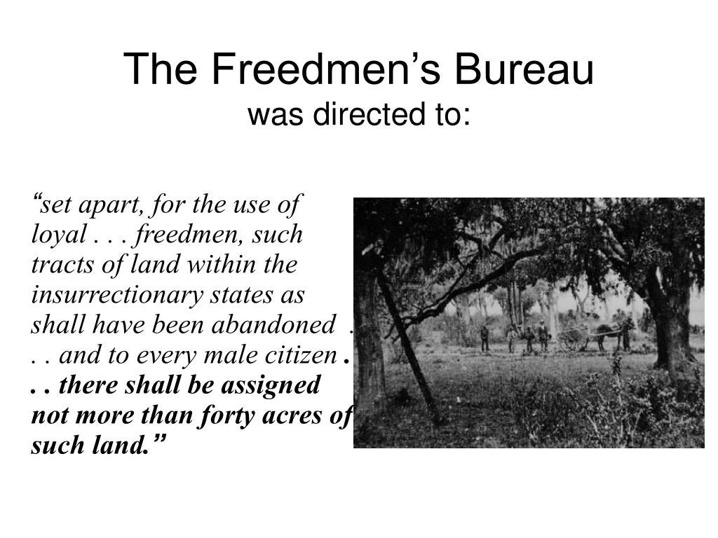 The Freedmen's Bureau