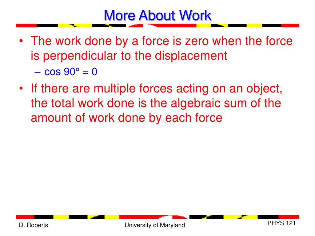 More About Work
