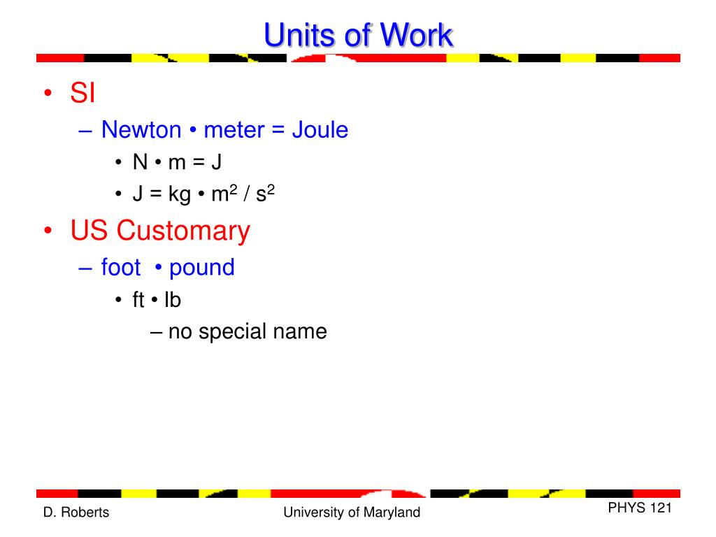 Units of Work