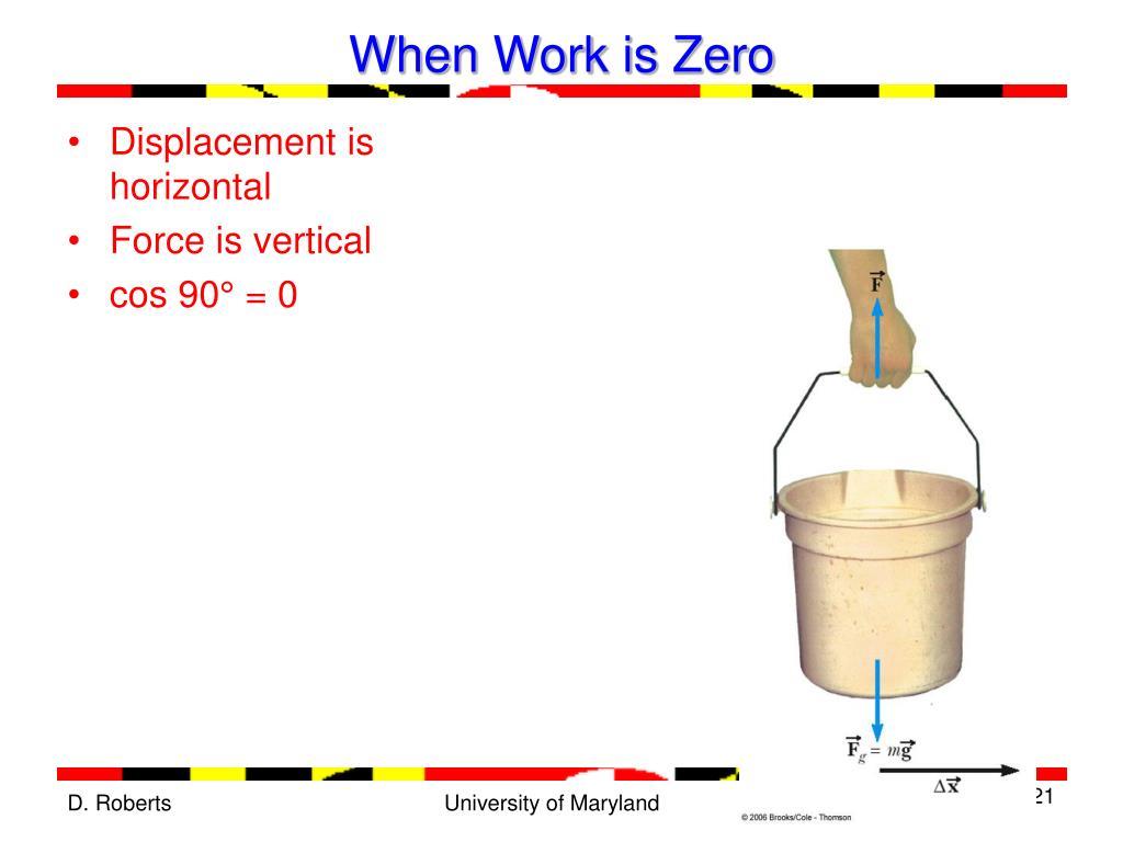 When Work is Zero
