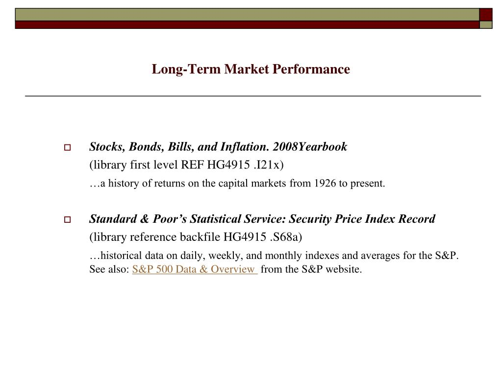 Long-Term Market Performance