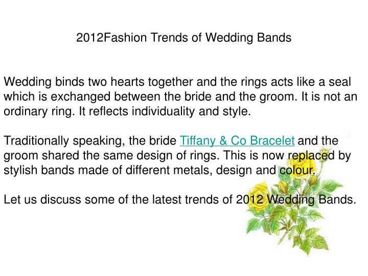 2012Fashion Trends of Wedding Bands