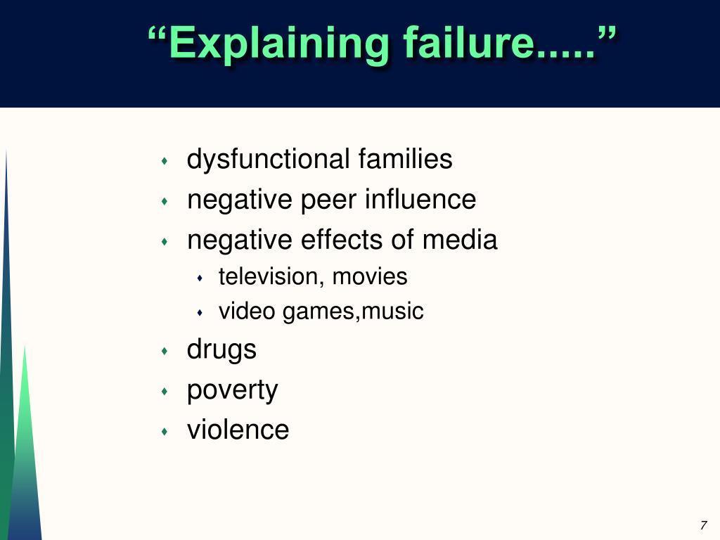 """Explaining failure....."""