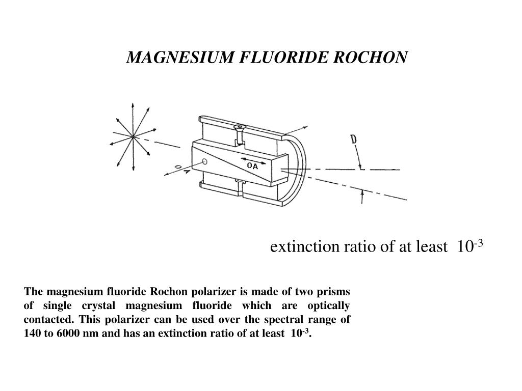 MAGNESIUM FLUORIDE ROCHON