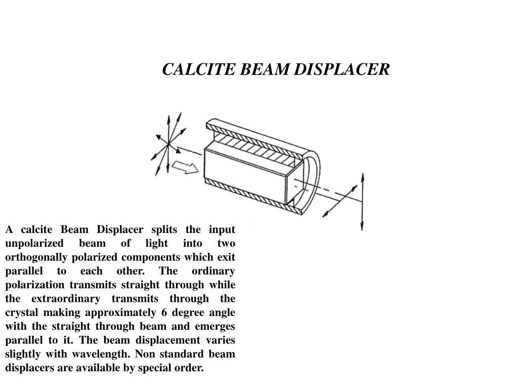 CALCITE BEAM DISPLACER