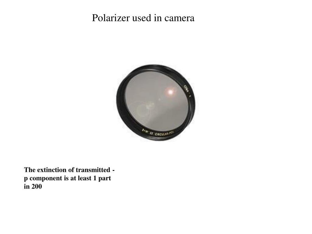 Polarizer used in camera