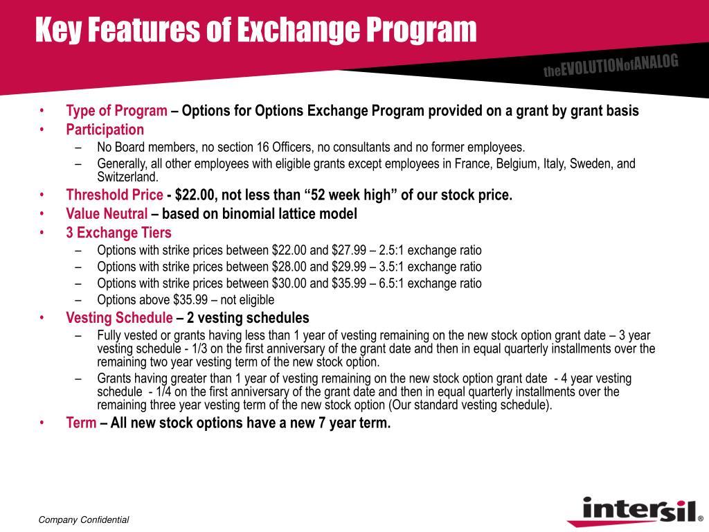 Key Features of Exchange Program