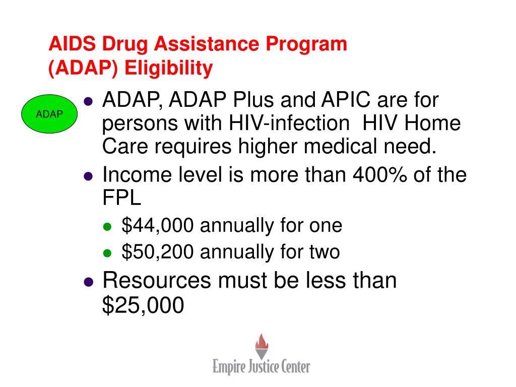 AIDS Drug Assistance Program (ADAP) Eligibility