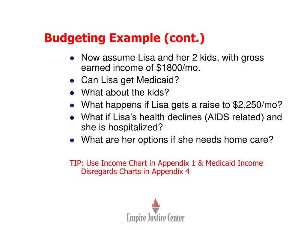 Budgeting Example (cont.)