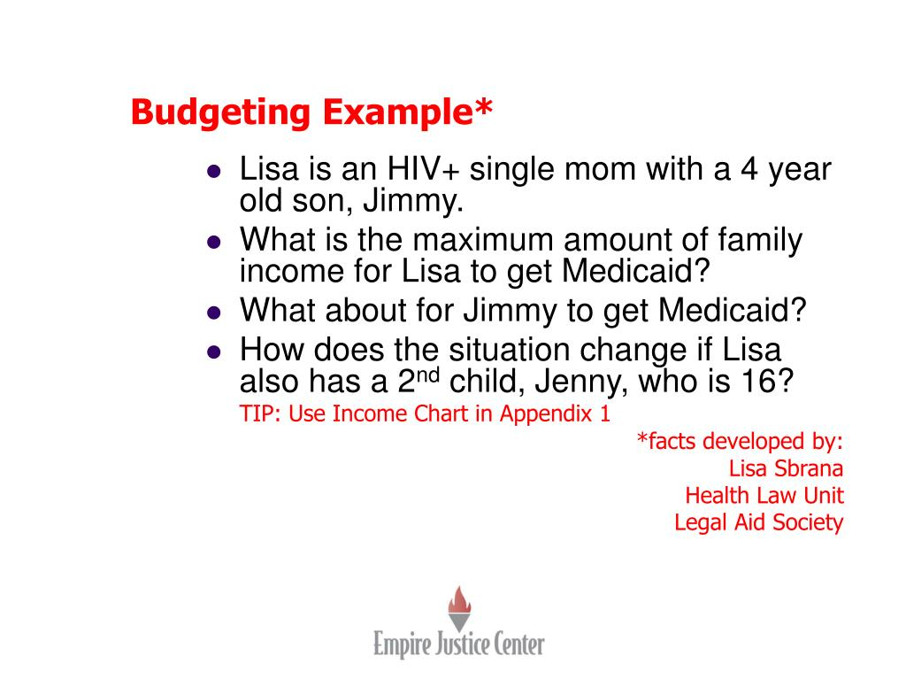 Budgeting Example*