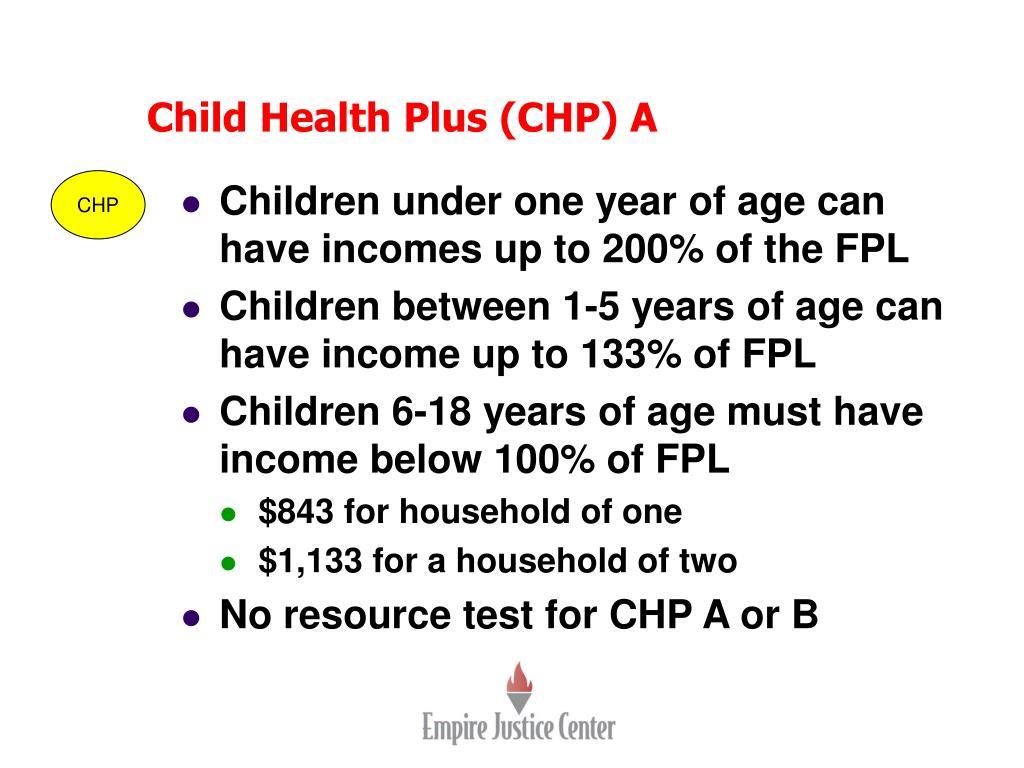Child Health Plus (CHP) A