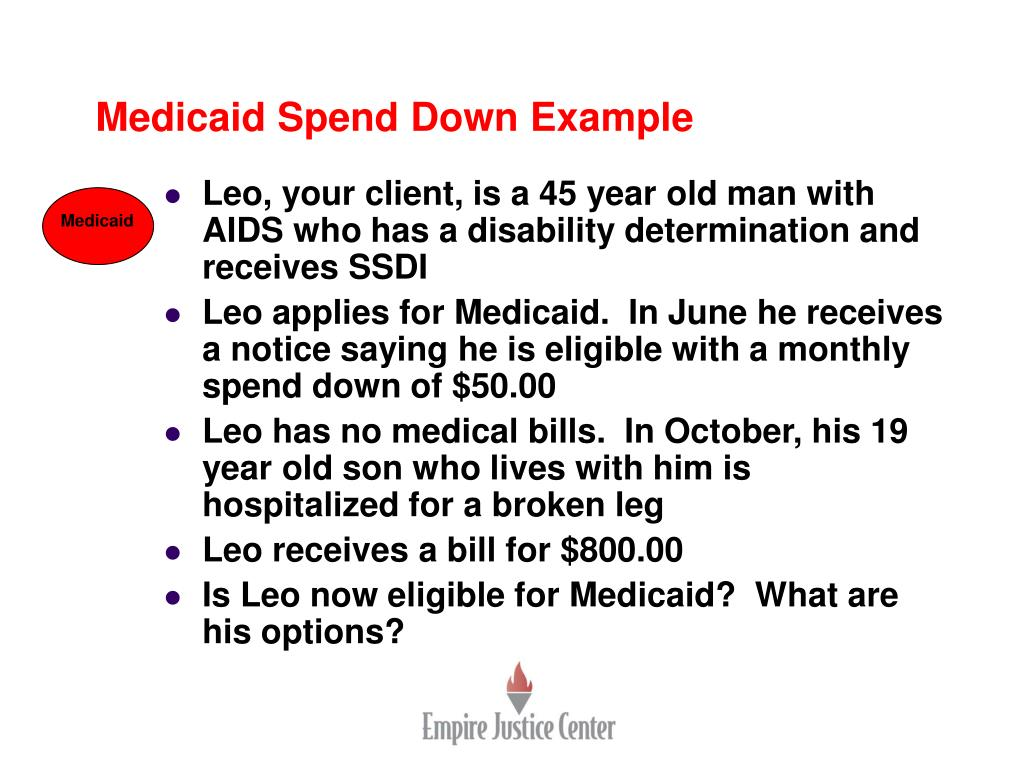 Medicaid Spend Down Example