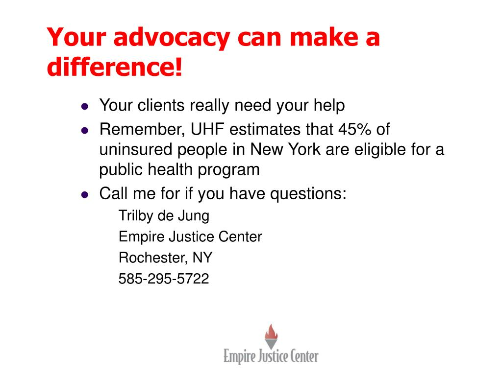 Your advocacy can make a difference!