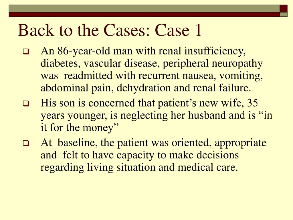 Back to the Cases: Case 1