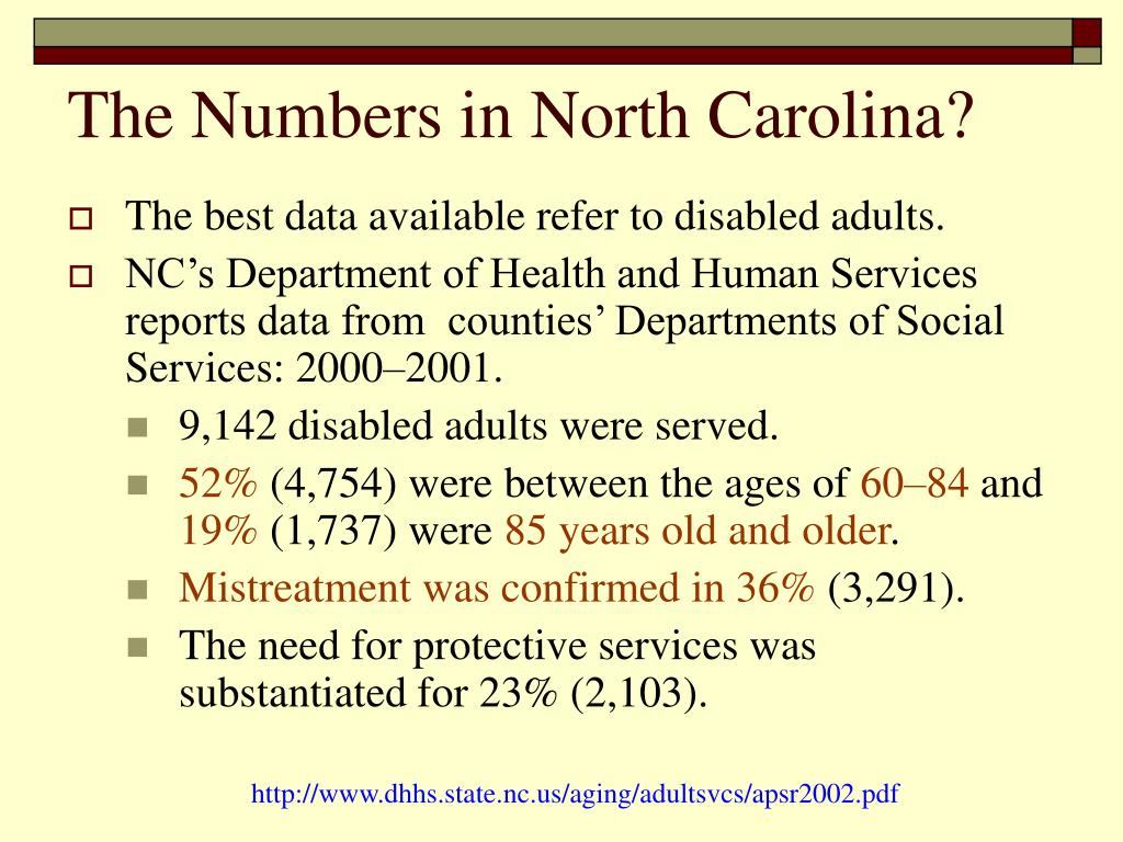 The Numbers in North Carolina?