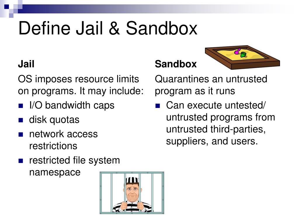 Define Jail & Sandbox
