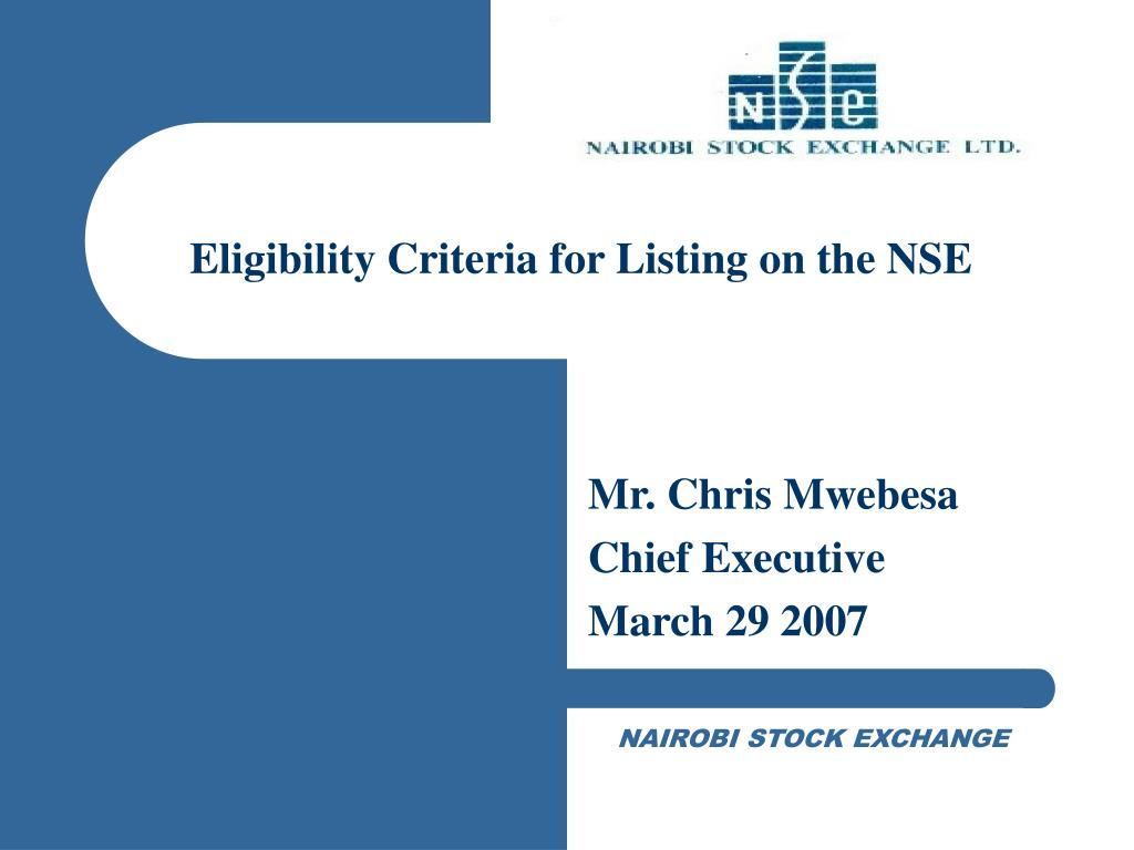 Eligibility Criteria for Listing on the NSE