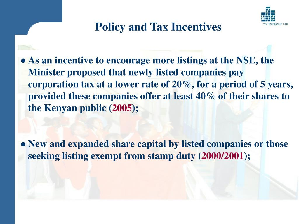 Policy and Tax Incentives
