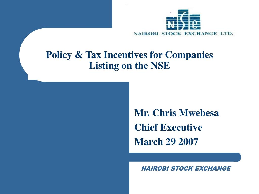 Policy & Tax Incentives for Companies Listing on the NSE