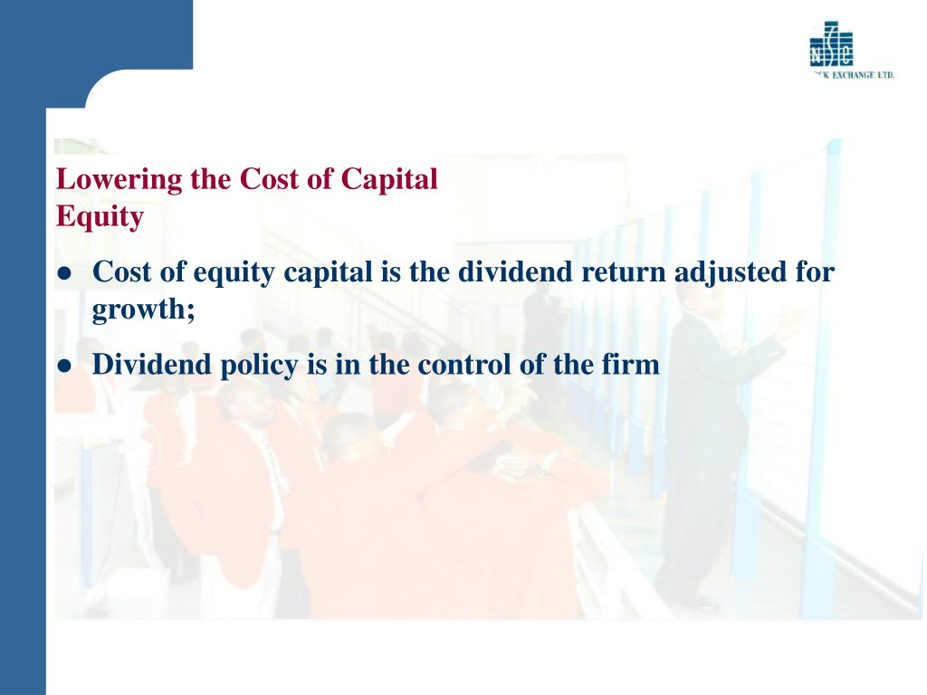 Lowering the Cost of Capital