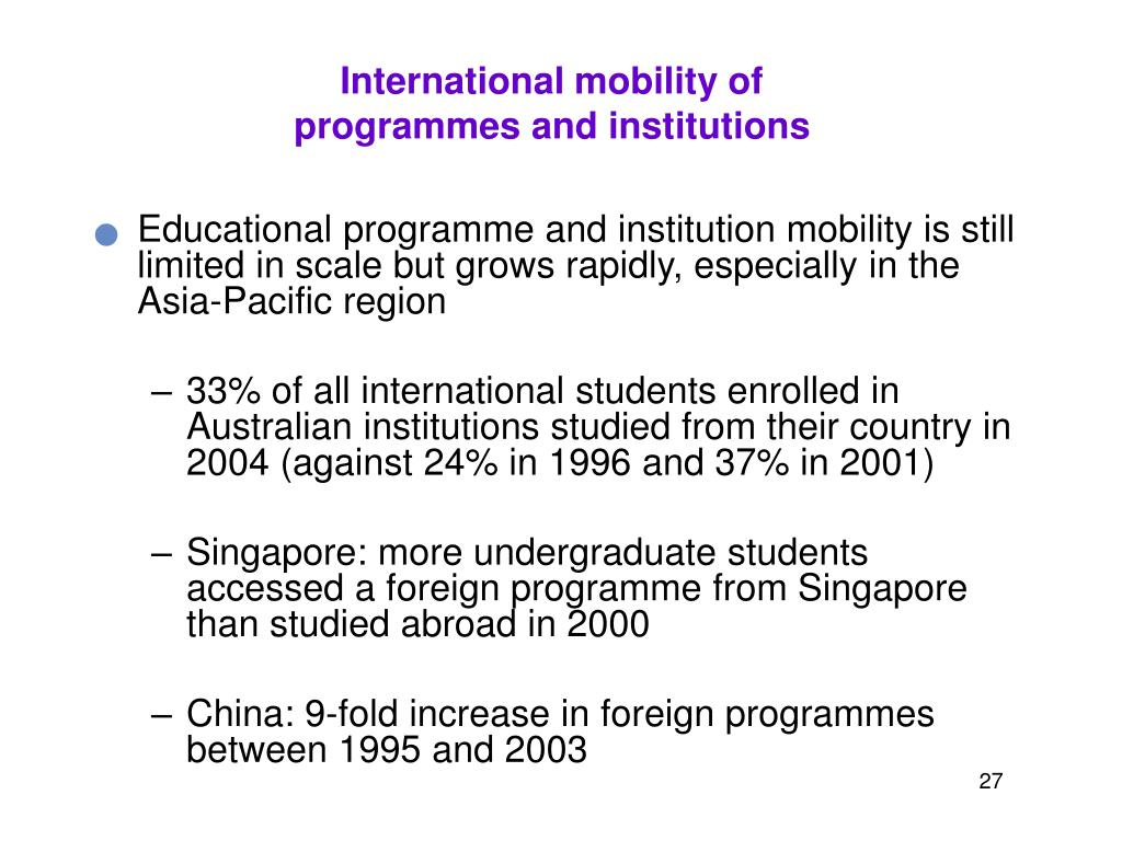 International mobility of