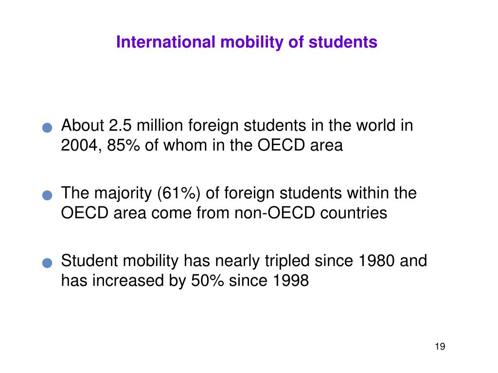 International mobility of students
