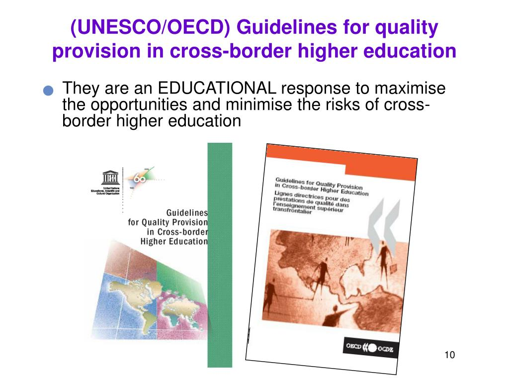 (UNESCO/OECD) Guidelines for quality provision in cross-border higher education