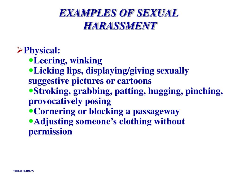 EXAMPLES OF SEXUAL