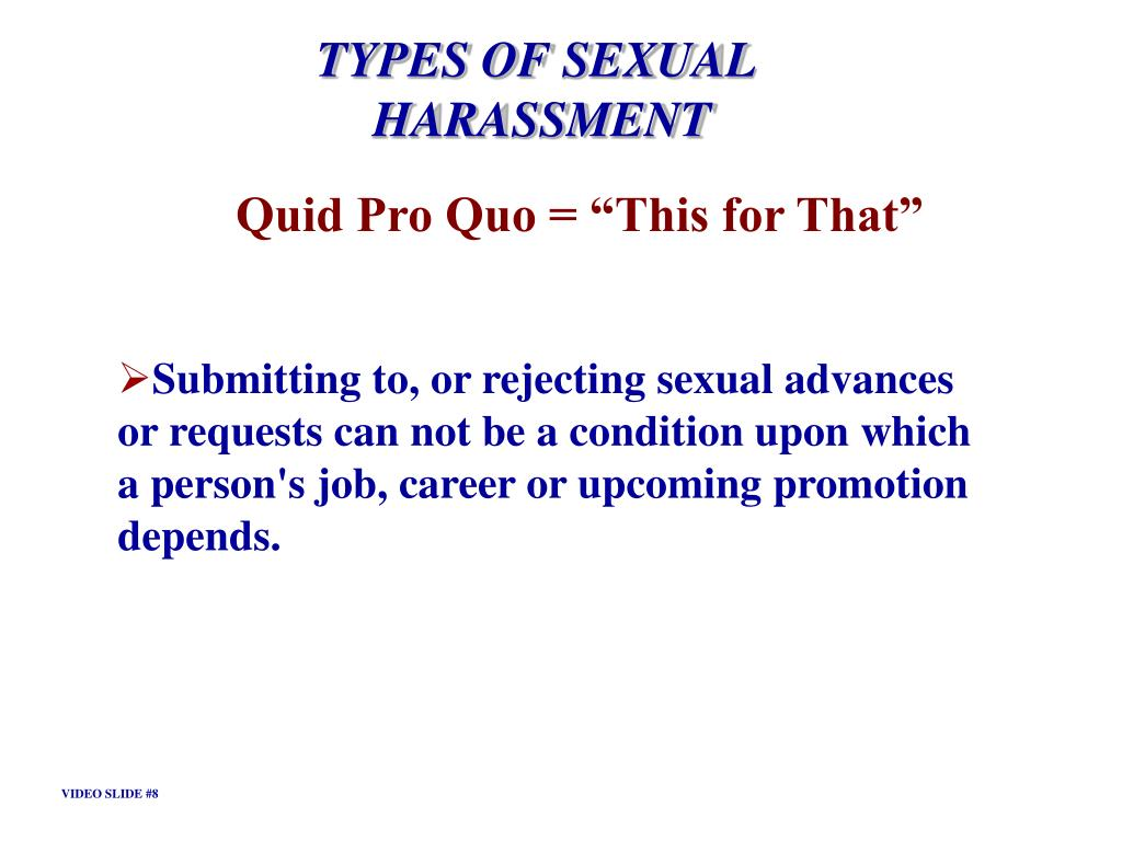 TYPES OF SEXUAL