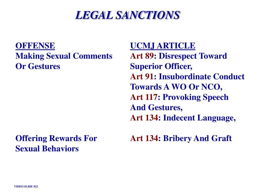 LEGAL SANCTIONS