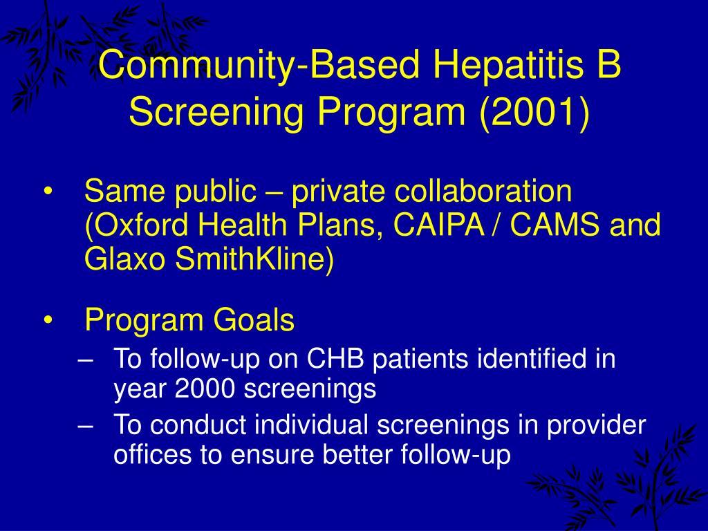 Community-Based Hepatitis B